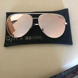 Quay Australia Accessories - Quay x Desi Perkins 'High Key' Aviator Sunglasses